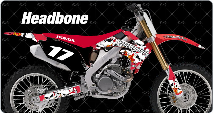 headbone motocross graphics kit for honda