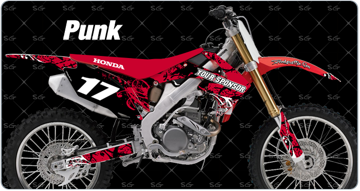 punk motocross graphics for honda