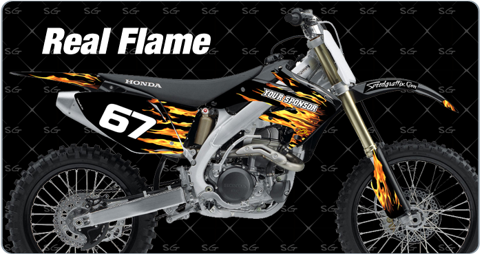 real-flame motocross graphics for honda