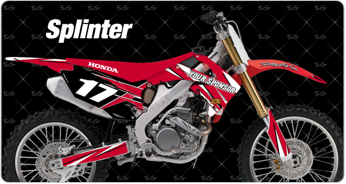 splinter motocross decals for honda