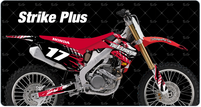 strike plus honda motocross graphics kit