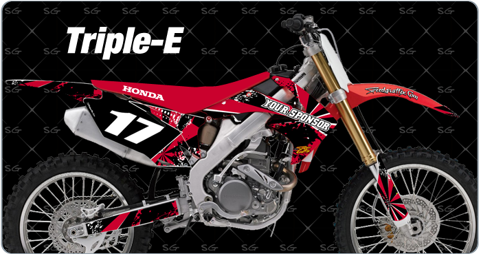 Honda triple-e motocross graphics kit