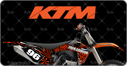 Motocross Graphics Kits For KTM