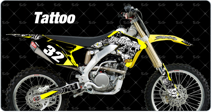 tattoo suzuki motocross decals premade motocross graphics for your suzuki dirtbike